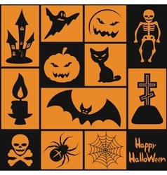Symbols for the Halloween vector image