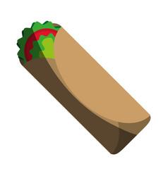 tacos food flat shadow vector image