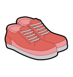 Tennis shoes pair icon vector