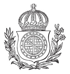 The great seal of brazil is a south american coat vector