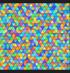 triangle rainbow pattern seamless colorful vector image