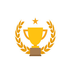 trophy cup graphic design template vector image