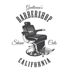 vintage monochrome barbershop logotype vector image