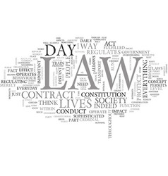what does the law mean to you text word cloud vector image