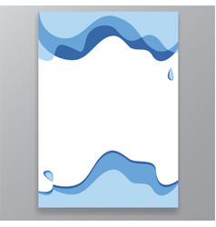 white blue water splashes cartoon stye page vector image