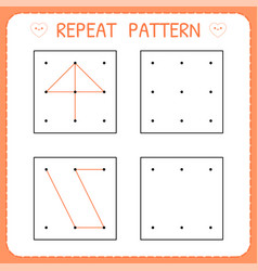 Working pages for children repeat pattern vector