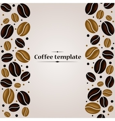 Coffee beans vintage cover design template vector image