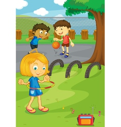 Friends in the park vector image vector image