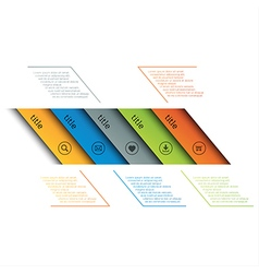Infographic template simple timeline vector image vector image