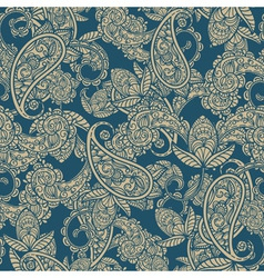 seamless paisley vector image vector image