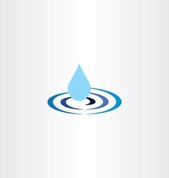 water drop ripple icon vector image vector image