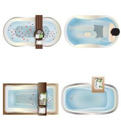 Bathtub top view set 1 vector image vector image