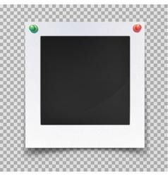 Blank image backdrop or vintage photo frame vector image vector image