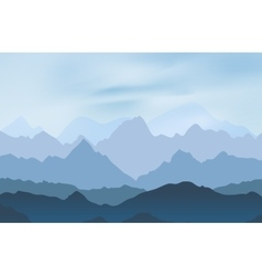 Nature landscape with mountain peaks vector image vector image
