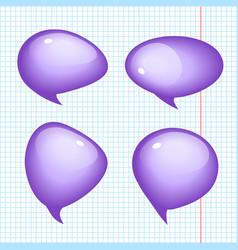 Set of realistic bubbles vector