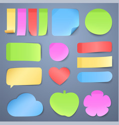 sticky note papers memo stickers vector image vector image