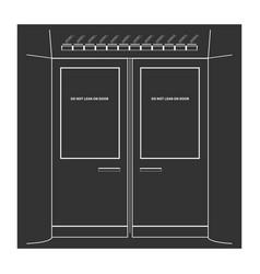 subway doors vector image vector image