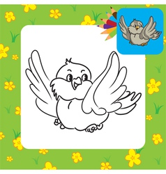bird coloring page vector image vector image