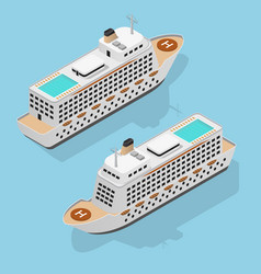 cruise liner set isometric view vector image