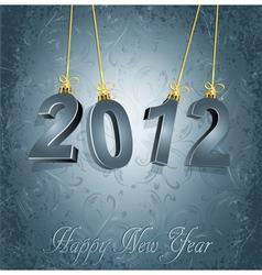 new years type vector image