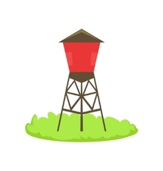 Red Water Barrel Cartoon Farm Related Element On vector image vector image