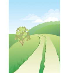 road nature vector image