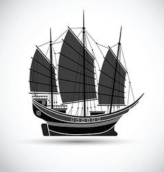 Sailing ship2 vector image vector image