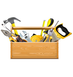 toolbox with instruments vector image