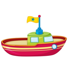 Toy boat vector image vector image