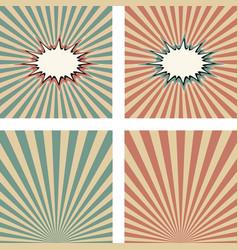 vintage background cartoon pop art template set vector image vector image