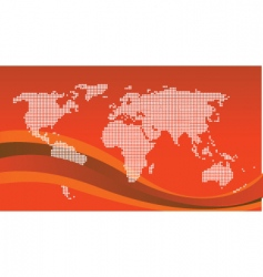 world graphic vector image vector image