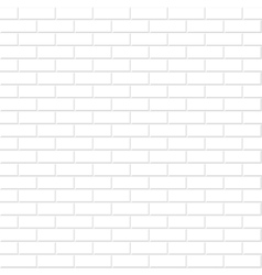 Brick wall texture White seamless background vector image vector image