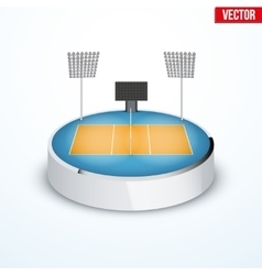 Concept of miniature round tabletop volleyball vector image vector image