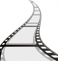 film strip reel wave vector image vector image