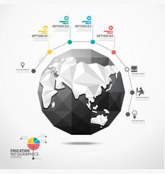 globe world map infographics geometric concept vector image