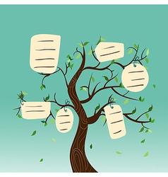 Hang tag family tree vector image