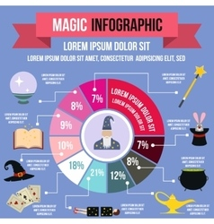 Magic infographic flat style vector image vector image