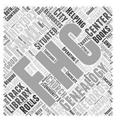 mormon genealogy Word Cloud Concept vector image vector image
