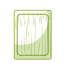 Silhouette cutting board practical to prepare vector