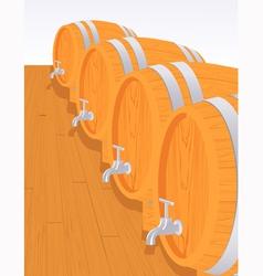 Wine cellar vector image vector image