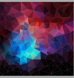 Abstract mosaic triangle geometric vector image