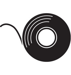 Adhesive tape roll glyph icon vector