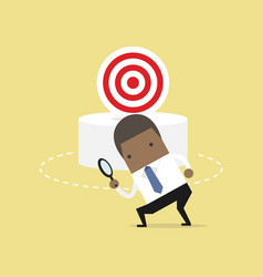 african businessman can not find the target vector image