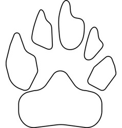 animal footprint icon black color vector image