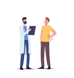 Backache sickness diseased patient male character vector