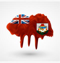 Bermuda flag painted colors vector