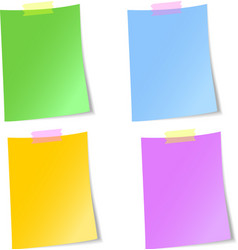Blank sheets of paper vector image