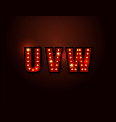 Bulb red light font on background vector