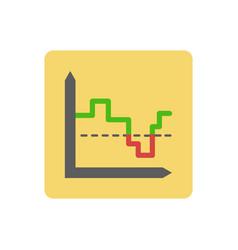 Chart ico vector