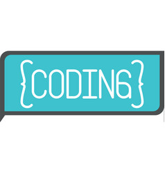 Colorful silhouette of rectangle text coding vector